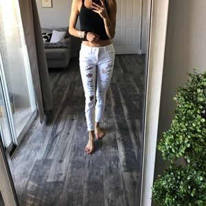 Simple white jeans